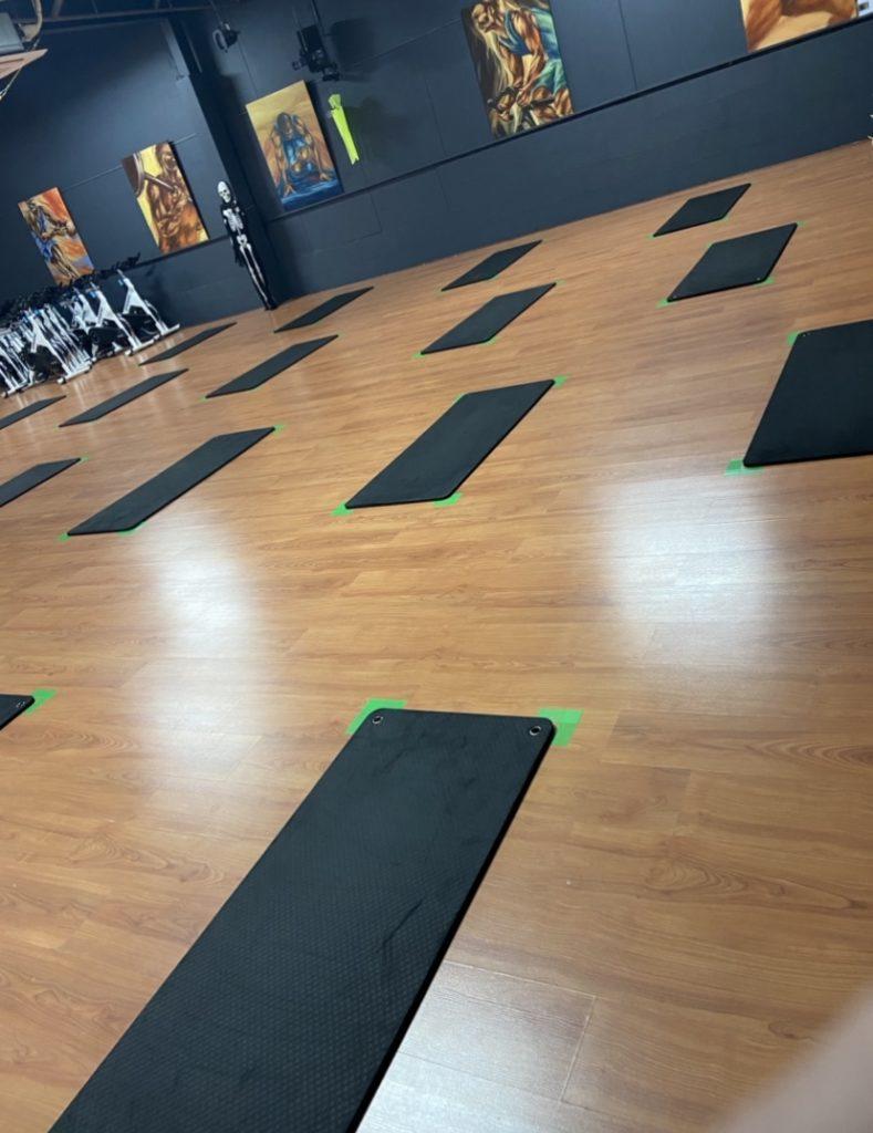 Salle de cours collectifs, yoga